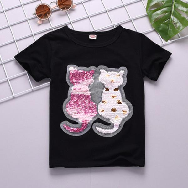 מגוון חולצות פאייטים לבנות 4-14 שנים