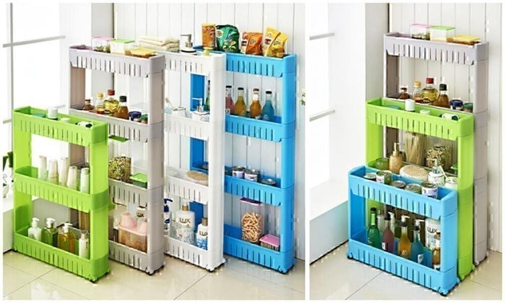 מזווה מדפים עם 3 ו-4 קומות נייד למטבח