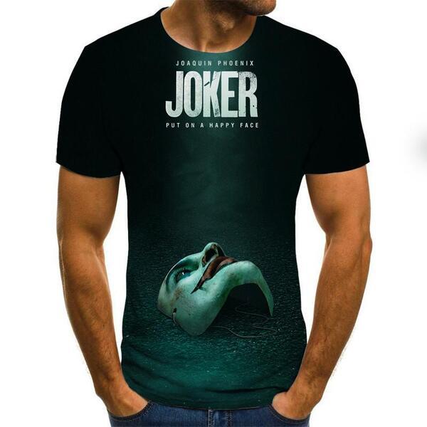 חולצת טישרט גברים בסגנון ג'וקר בית הנייר