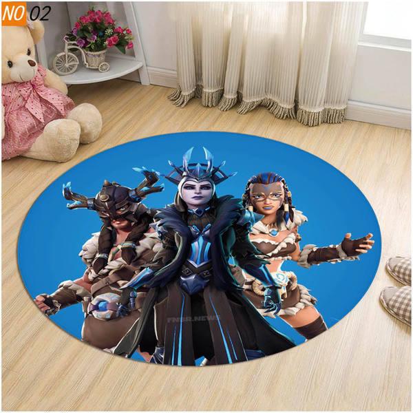 שטיחון עגול מונע החלקה בעיצוב פורטנייט ועוד