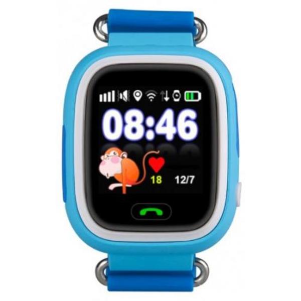 שעון GPS חכם לילדים עם סים מובנה Kidiwatch Color בצבע תכלת