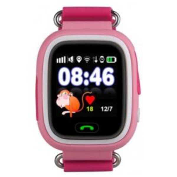 שעון GPS חכם לילדים עם סים מובנה Kidiwatch Color בצבע ורוד