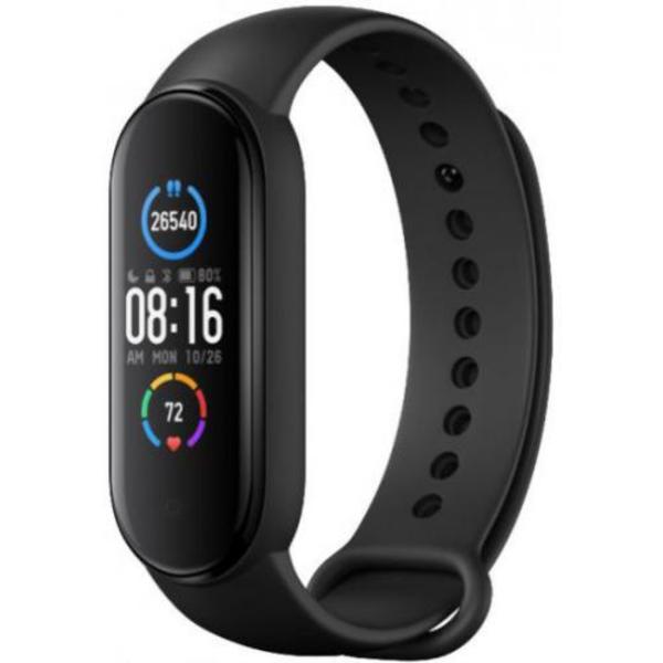 שעון רצועת יד Xiaomi Mi Smart Band 5 בצבע שחור – שנה אחריות יבואן רשמי על-ידי המילטון